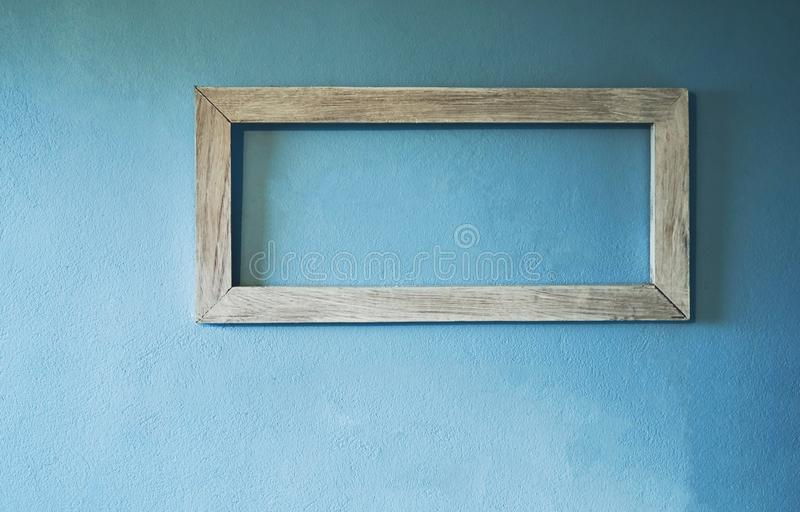 Picture frame on the walls of the house are made of cement. royalty free stock images