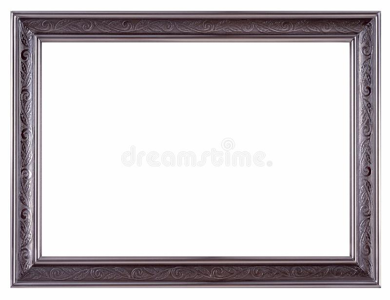 Picture frame and white background stock photo