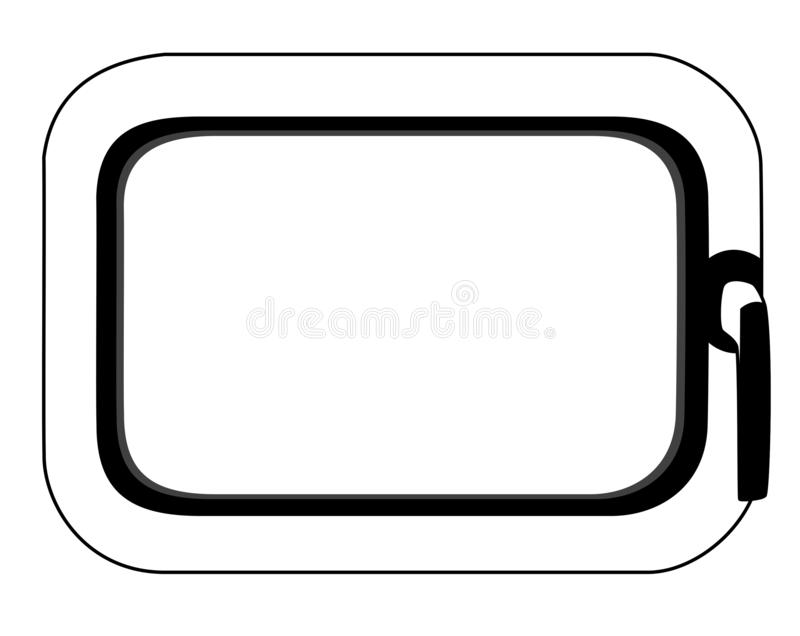 Rahmen - window. In the picture is a frame of the window. It is black and white. Inside is a space for the text royalty free illustration