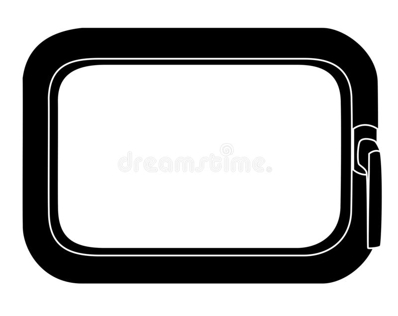 Rahmen - window. In the picture is a frame of the window. It is black and white. Inside is a space for the text vector illustration