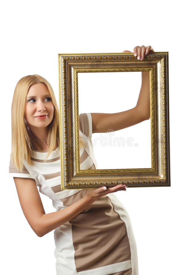 Picture frame and  woman