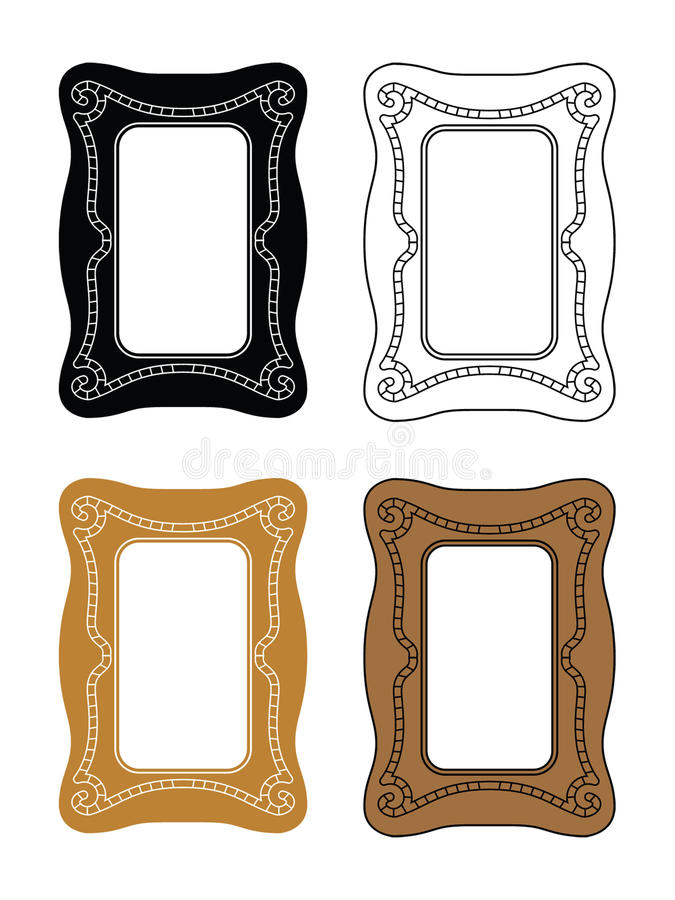 Download Picture frames 2 stock vector. Image of ornamental, background - 21654613