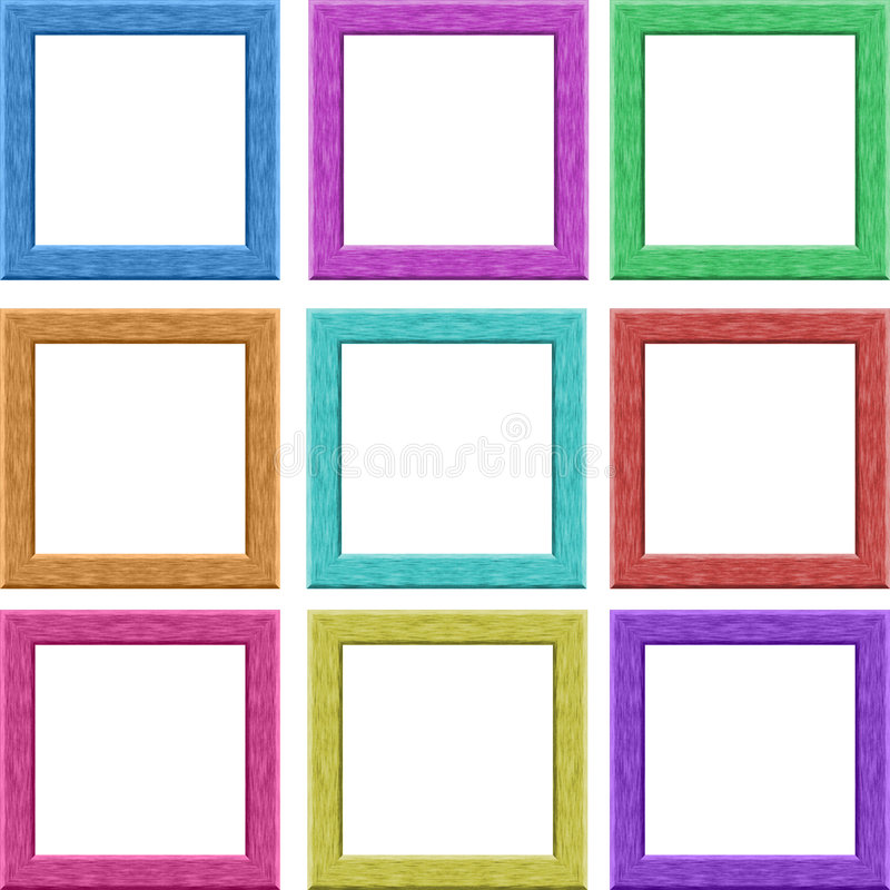 Picture frames royalty free illustration