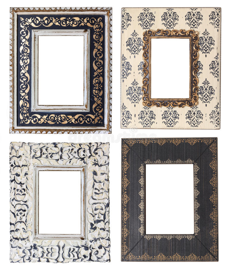 Download Picture frames stock image. Image of gold, wooden, white - 25620839