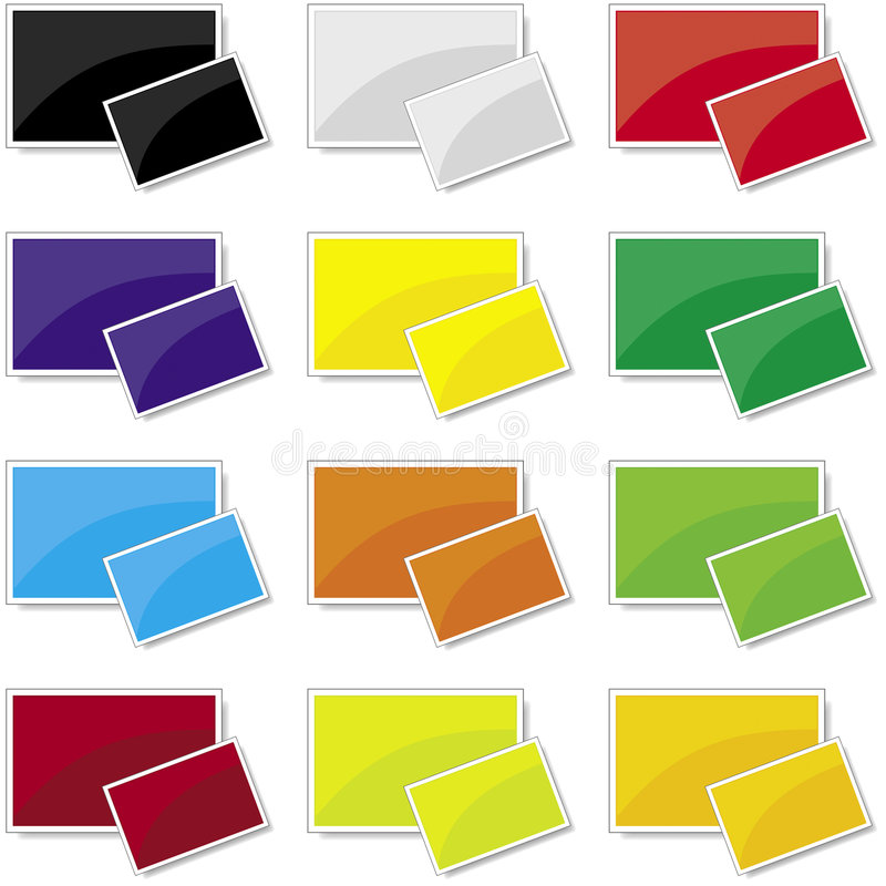 Picture Frames. Gloss Photo / Picture Frame Icons made in Illustrator CS (vector