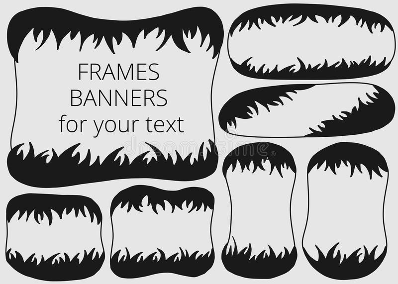 Picture frames or banners for your text royalty free illustration