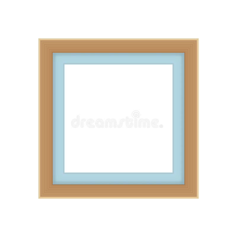 Picture frames brown color, vintage frame image cute, frames picture chic luxury on white background. The picture frames brown color, vintage frame image cute royalty free illustration