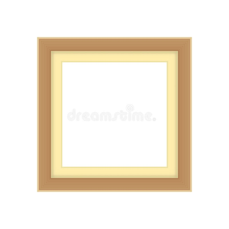 Picture frames brown color, vintage frame image cute, frames picture chic luxury on white background. The picture frames brown color, vintage frame image cute stock illustration