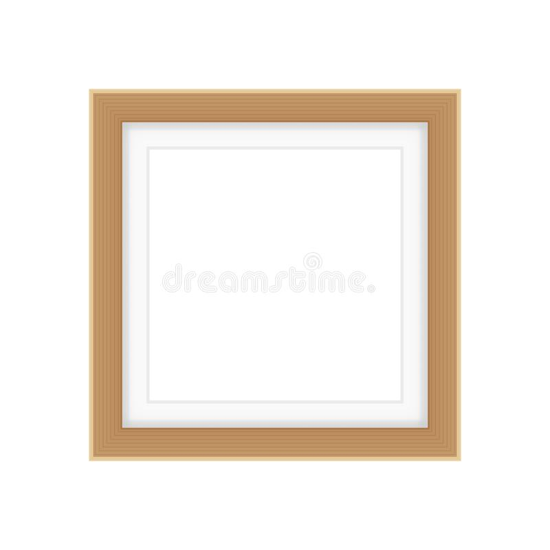 Picture frames brown color, vintage frame image cute, frames picture chic luxury on white background. The picture frames brown color, vintage frame image cute vector illustration