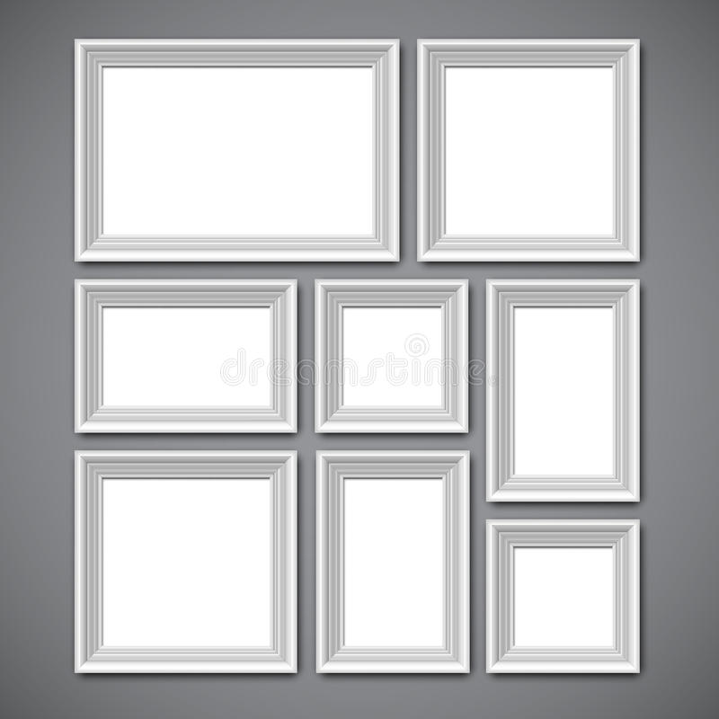 Picture Frames Collage stock vector. Illustration of museum - 72542632