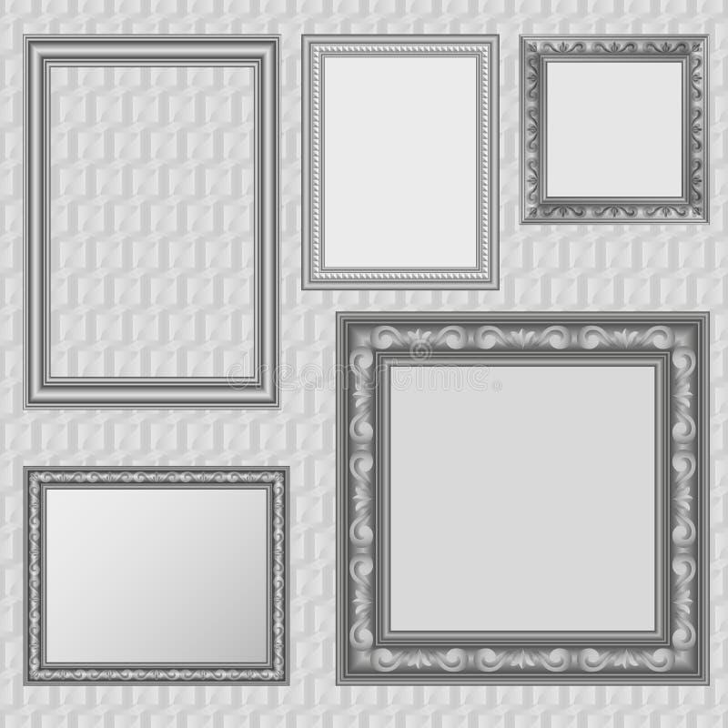 Picture frames set vector illustration