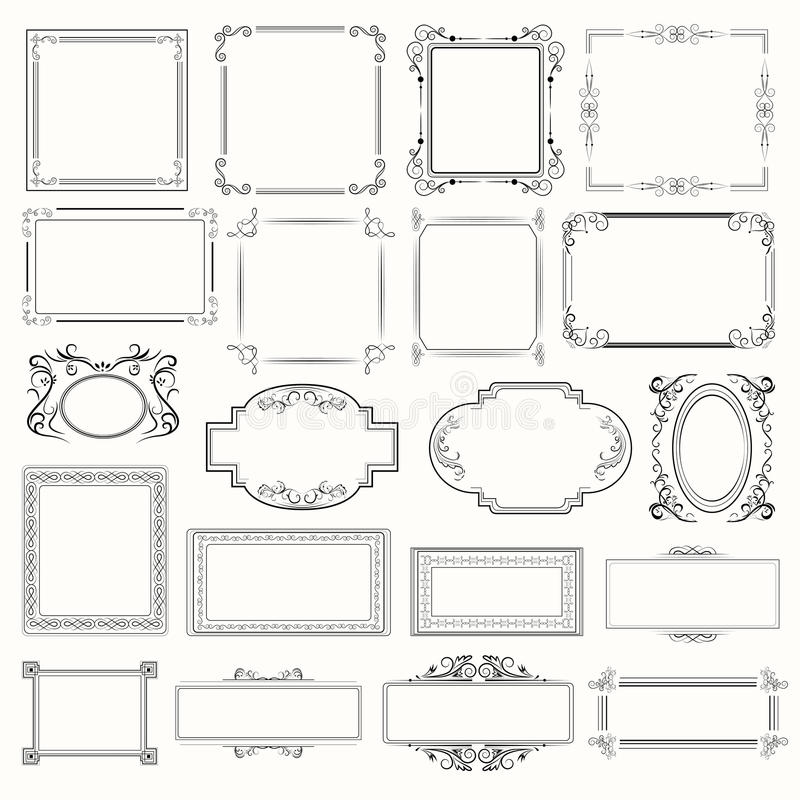 Picture frames. Vector set of picture frames