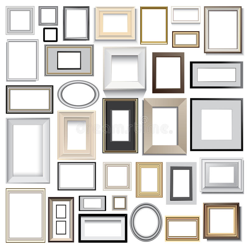 Picture frames vector illustration