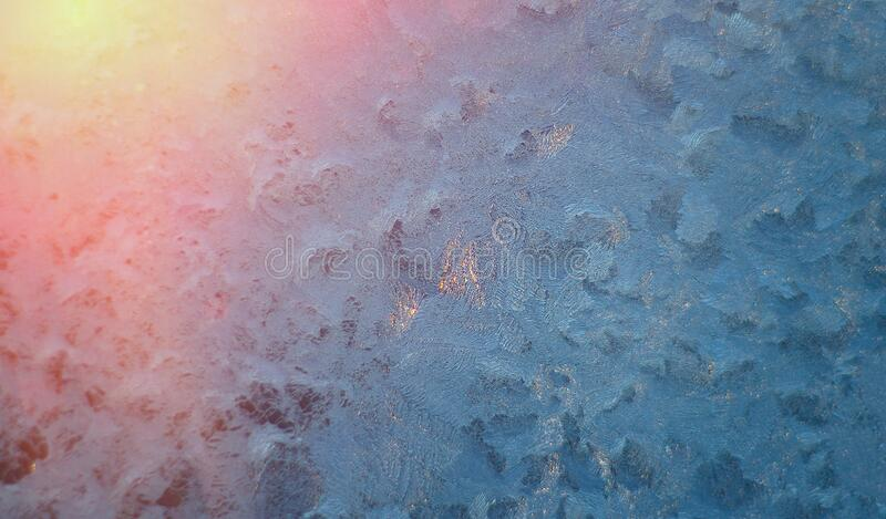 Picture of frost on the glass stock photos