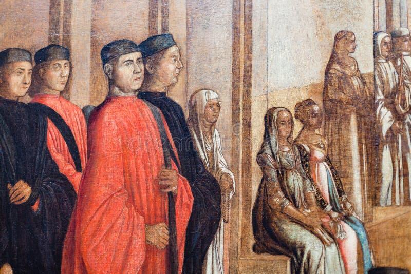 Picture in Gallerie dell`Accademia in Venice. VENICE, ITALY - MARCH 30, 2017: picture in Gallerie dell`Accademia in Venice. The museum gallery exhibits pre-19th stock photo
