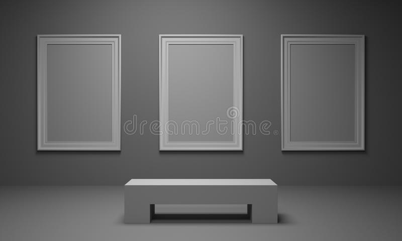 Download Picture Gallery stock illustration. Image of bench, museum - 19560815