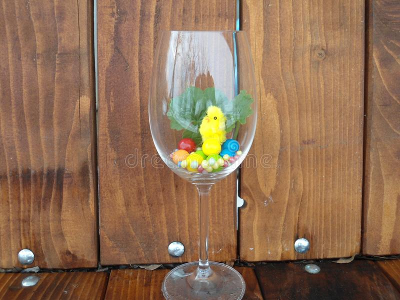 A picture in a glass of Easter color royalty free stock photo