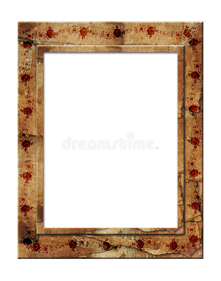 Picture gold frame royalty free illustration