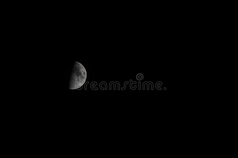 Picture of a half moon royalty free stock images