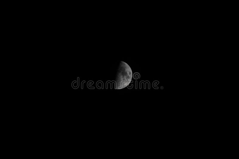Picture of a half moon stock image