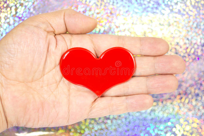 Download Heart That Was Placed On My Palm Stock Image - Image: 29765805