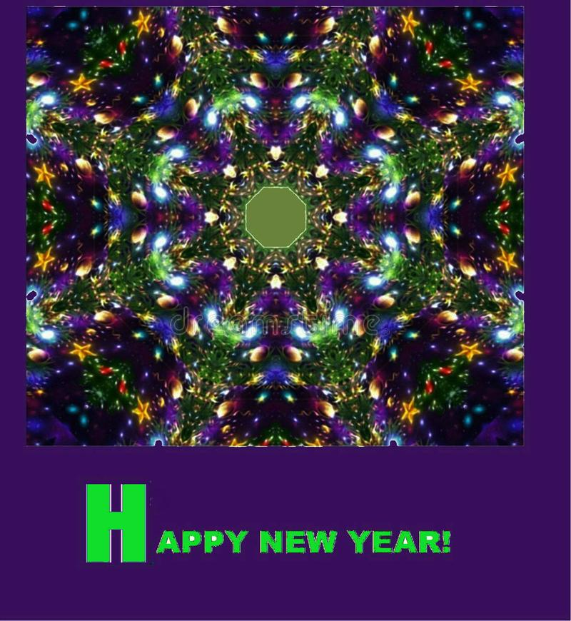 Picture for the holiday. ` Happy New Year!`.. royalty free illustration