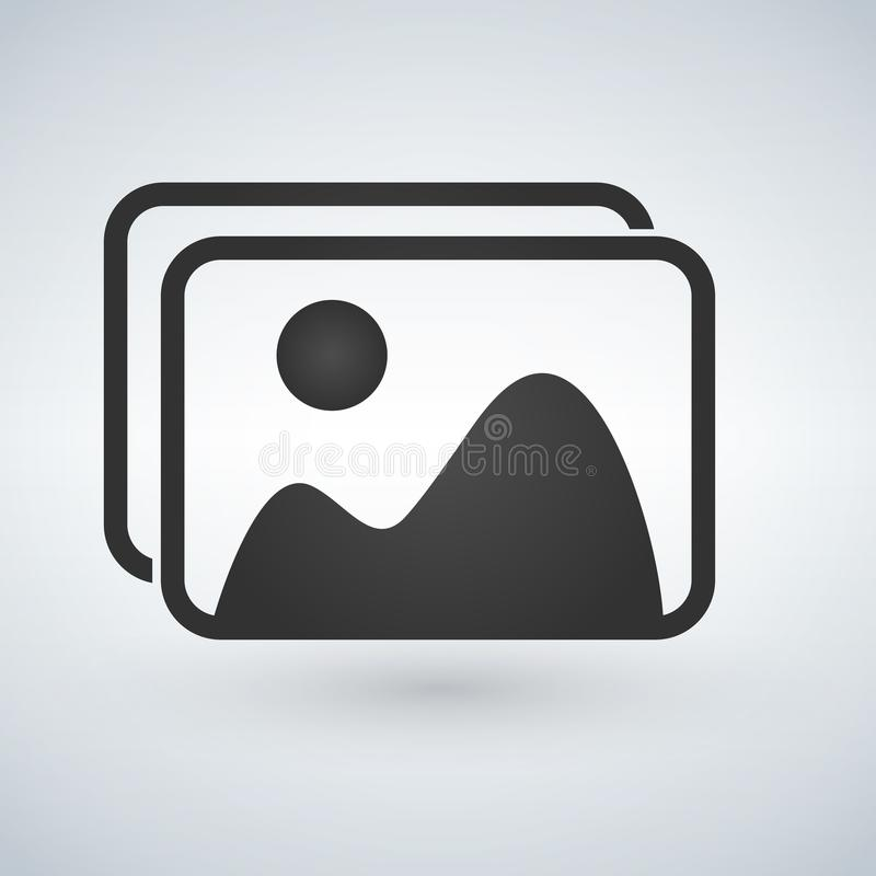 picture icon. vector illustration isolated on white background. royalty free illustration