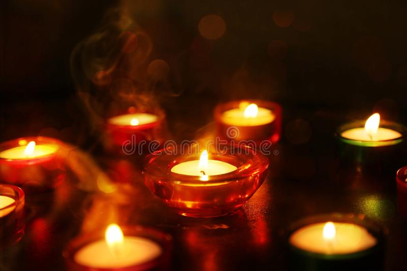 Picture of Indian festival Diwali lamp royalty free stock photos