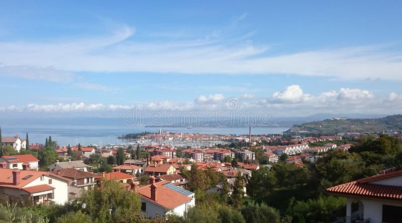 Picture of isola from near hill city by the sea royalty free stock photo