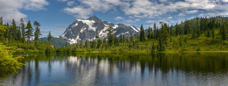 Picture Lake with Mt. Shuksan, Washington state. royalty free stock image