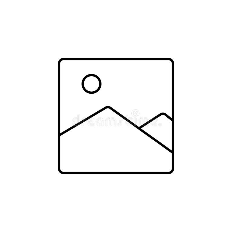 picture landscape icon. Element of simple icon for websites, web design, mobile app, info graphics. Thin line icon for website des royalty free illustration