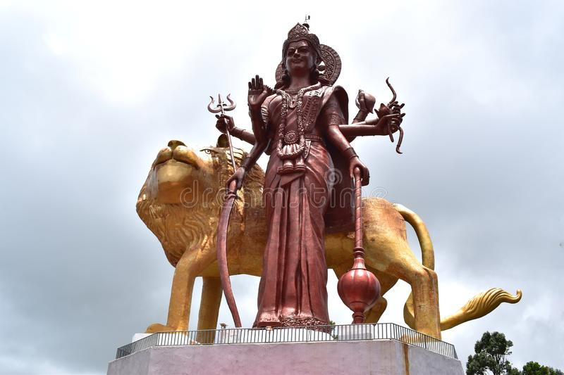 Picture of the largest statue of Durga in the world. royalty free stock images