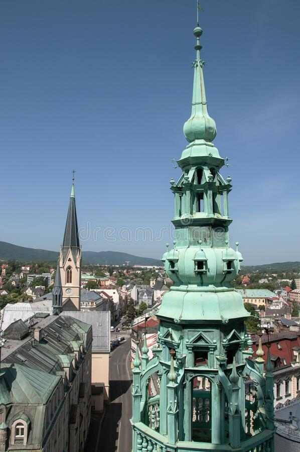 A picture of Liberec from the Town Hall Tower stock photo