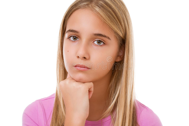 Picture of lovely young girl.Isolated royalty free stock photo
