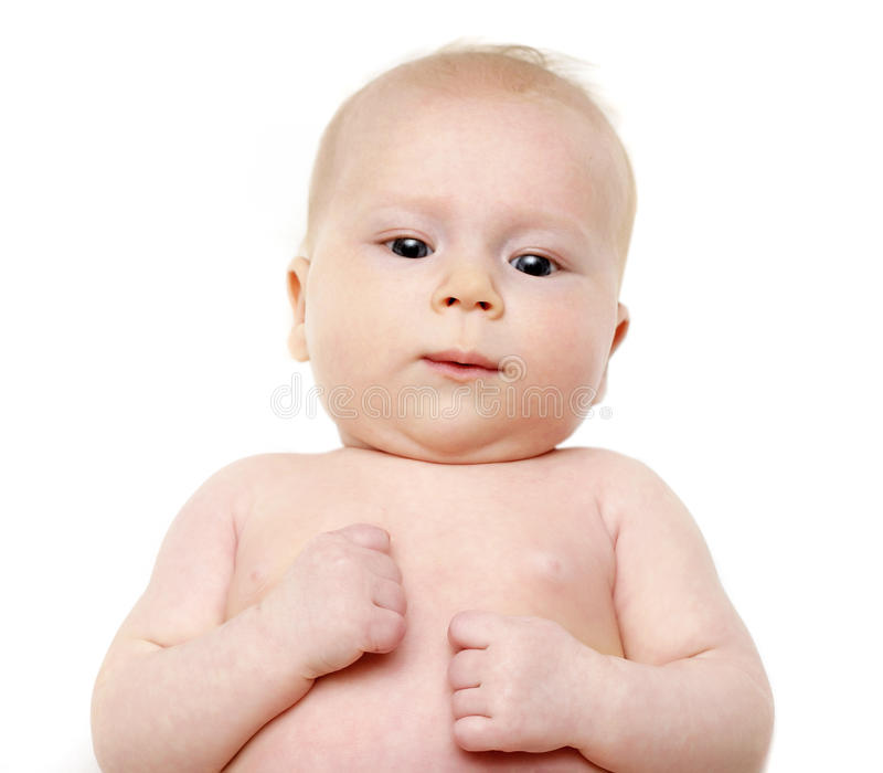 Picture Of Lying Back Baby Royalty Free Stock Photo