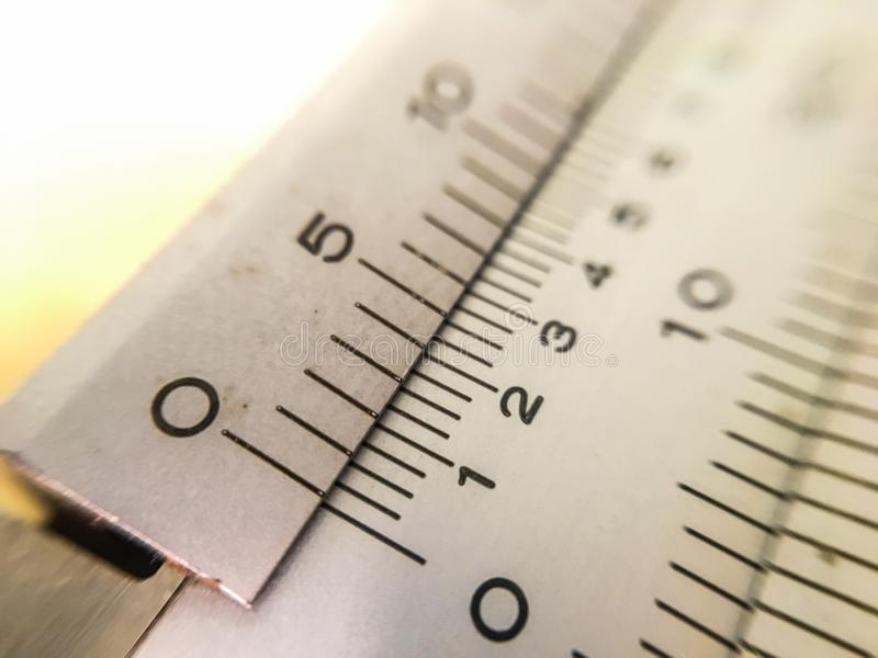 The picture macro vernier scale, concept and idea picture.  stock photography