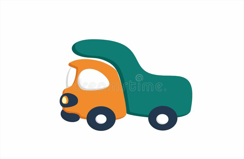 Car. Illustration and pictograme. Little baby car. The picture is made in nice pleasant colors. The car looks great royalty free illustration