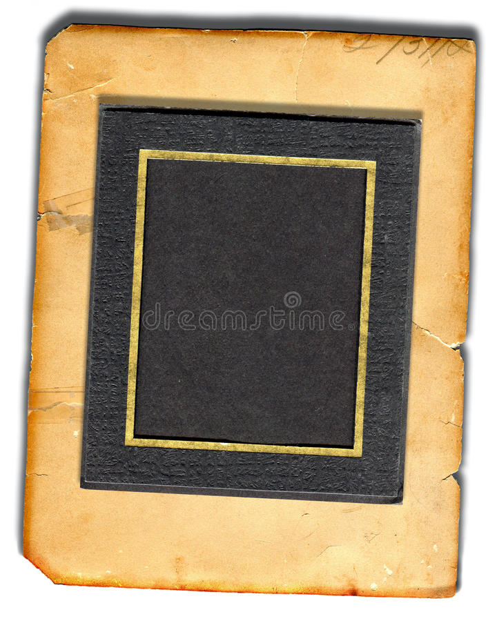 Picture Mat On Old Paper royalty free stock image