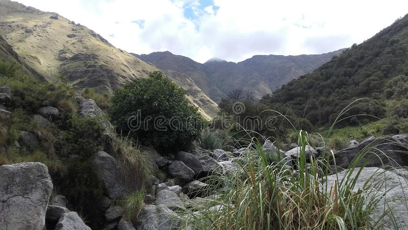 Natural reserve in Merlo, San Luis Argentina. Picture of the mountain. Natural reserve in Merlo, San Luis Argentina royalty free stock photo