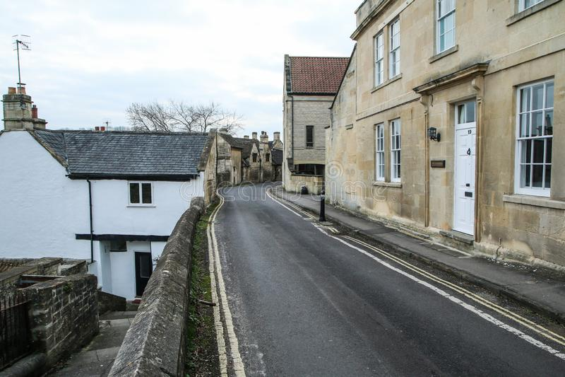 Nice old town Bradford on Avon in United Kingdom. A picture from the nice old town Bradford on Avon in United Kingdom. You can see the houses, streets, footpaths stock photos