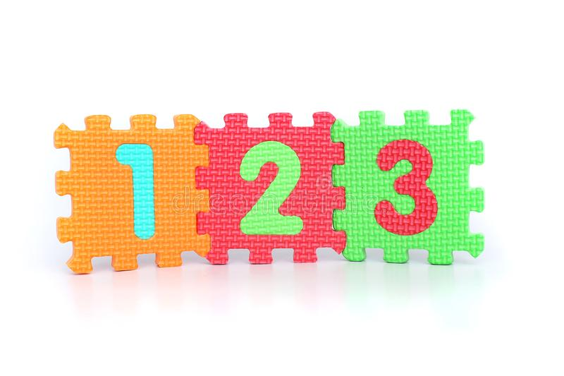 Picture of numbers 123 royalty free stock images