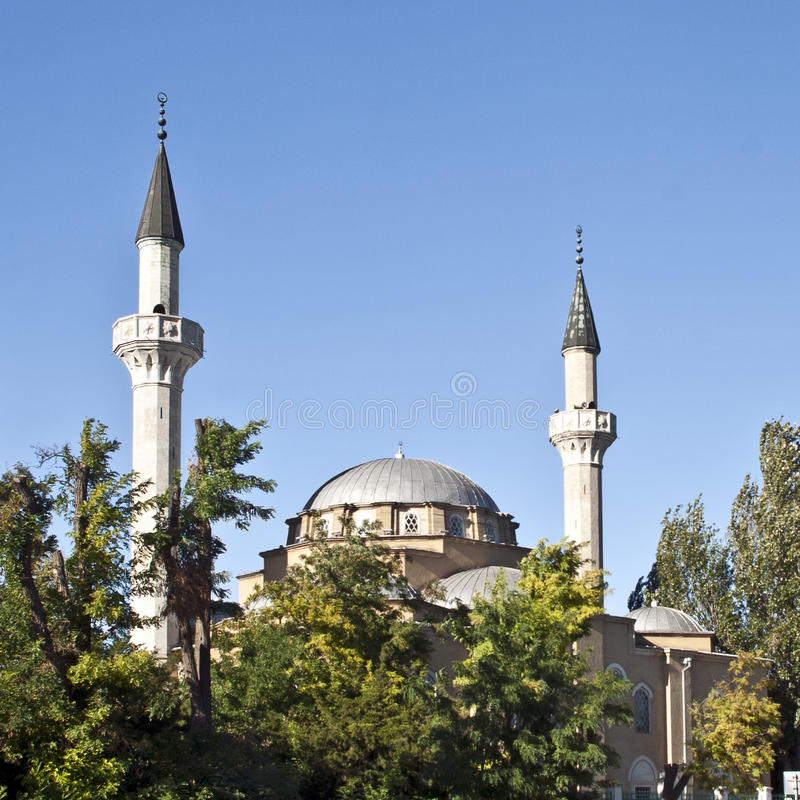 Download Old mosque with minarets stock image. Image of mosque - 30076959