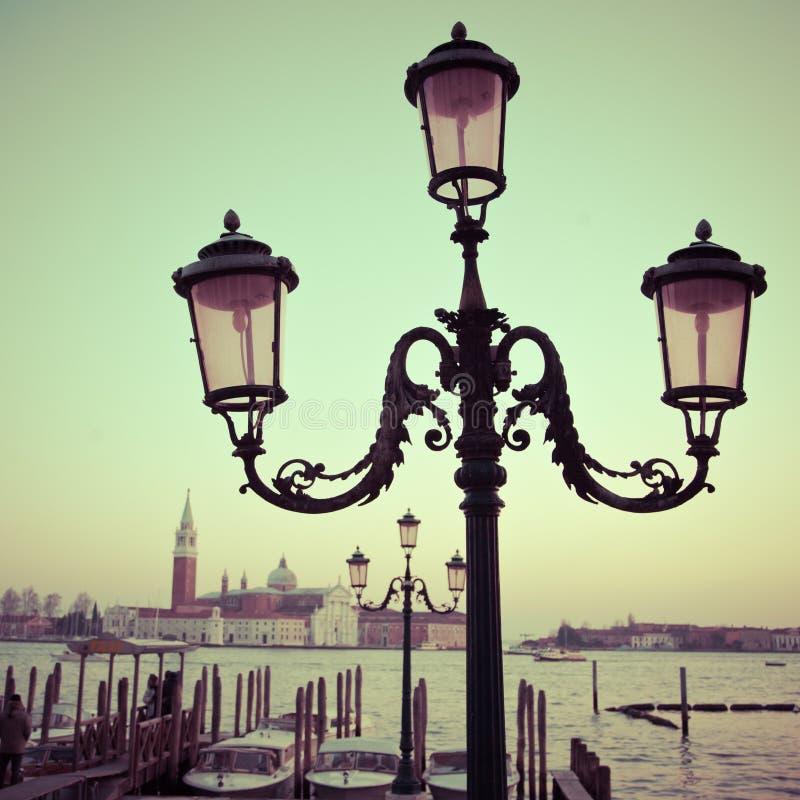 Old street lantern in Venice stock photo
