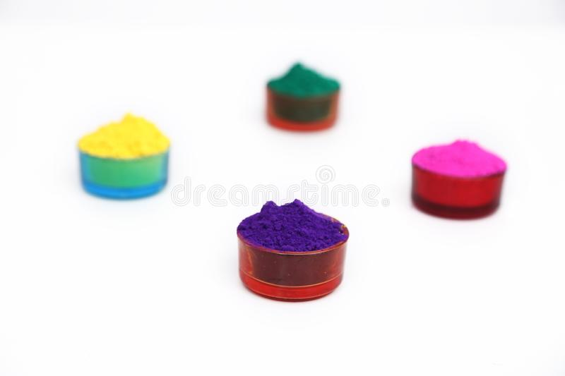 Picture of organic holi color for indian holi festival royalty free stock photography