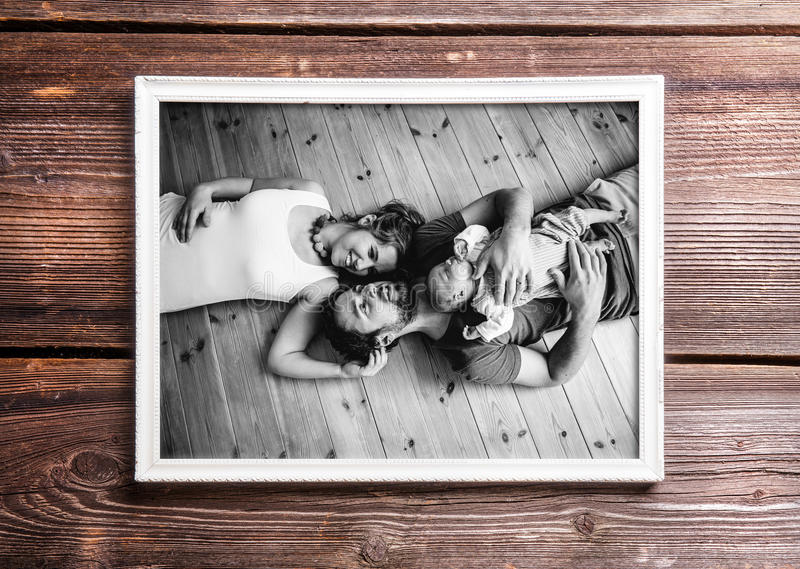 Picture Of Parents Holding Baby Daughter. Fathers Day. Stock Image ...