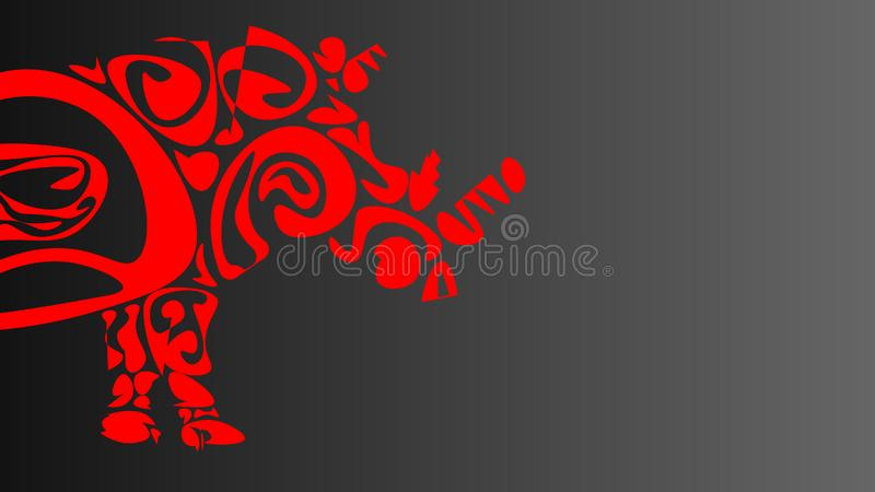 Picture of a part of a rhino royalty free illustration