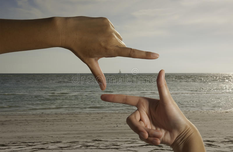 Picture perfect beach stock photo