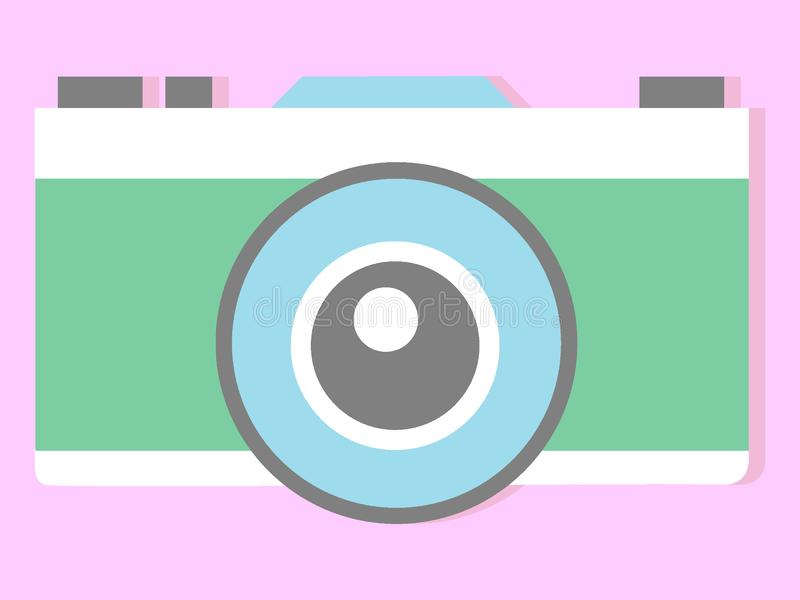Picture of a photo camera. Vector illustration of the Picture of a photo camera stock illustration