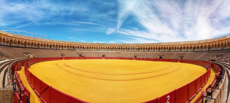 Plaza de Toros of Sevilla Spain stock photography