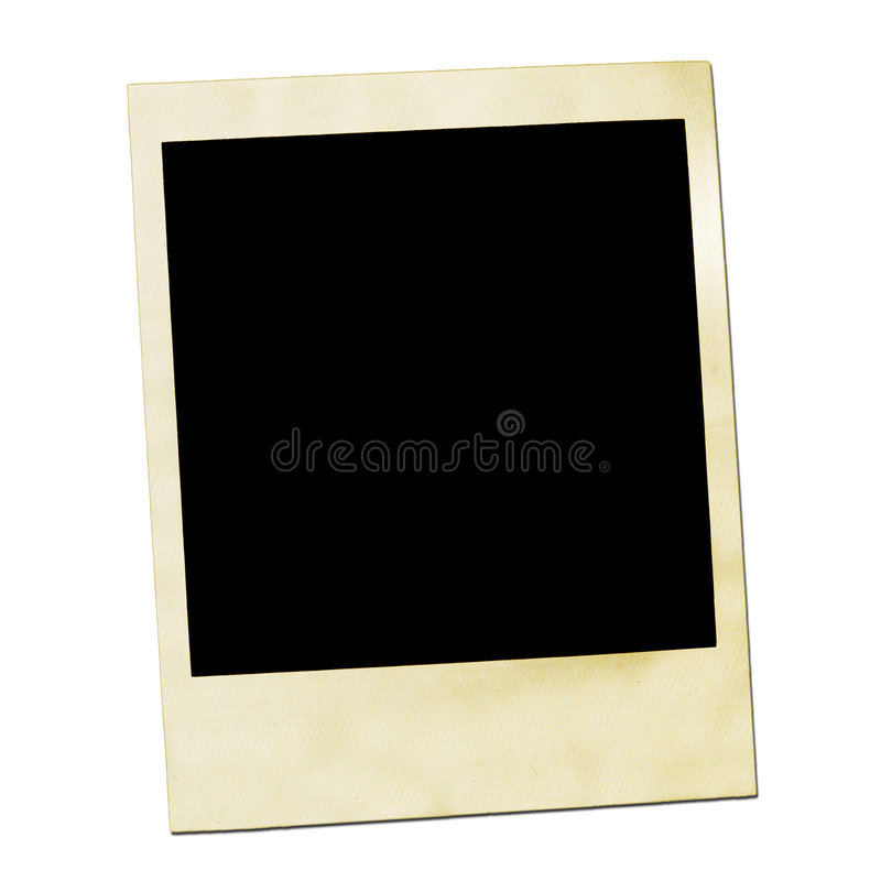Picture of a Polaroids front. royalty free stock image